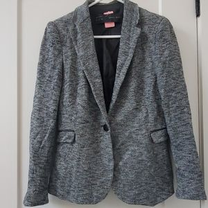 Blazer with leather details